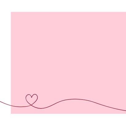 Felicitatie - Simpel hart roze 2