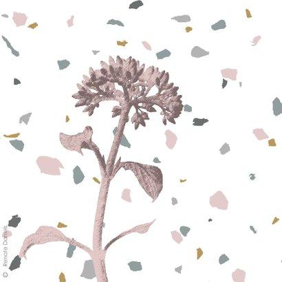 Felicitatie terrazzo met bloem 2