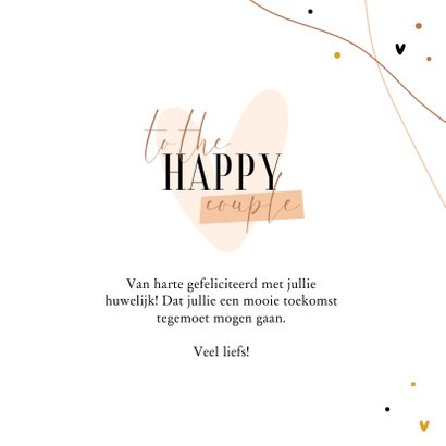 Felicitatie to the happy couple hip met hartje 3