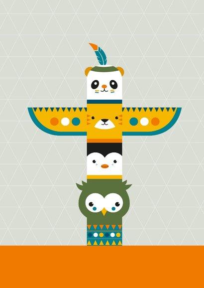 Felicitatie - Totempaal dieren 2