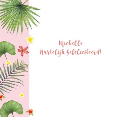 Felicitatie tropische bladeren 2
