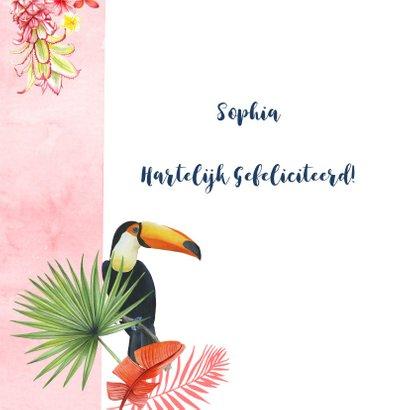 Felicitatie tropische toekanvogel 2