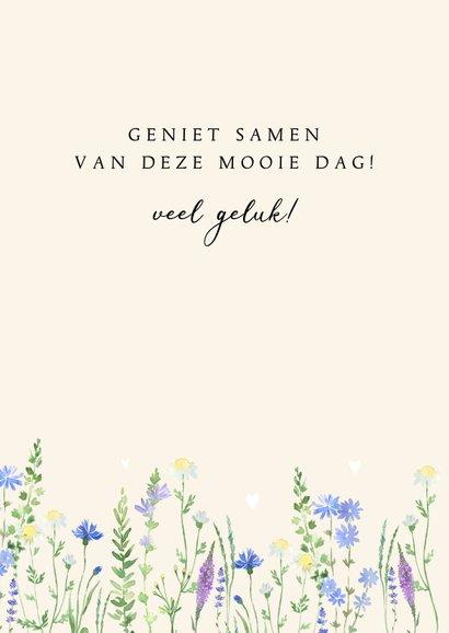 Felicitatie trouwdag veldboeket 3