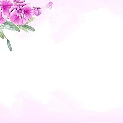 Felicitatie trouwen orchidee 2