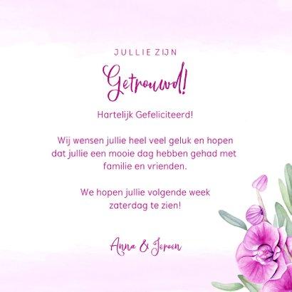 Felicitatie trouwen orchidee 3