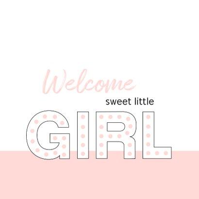 Felicitatie - Typografisch met roze 2