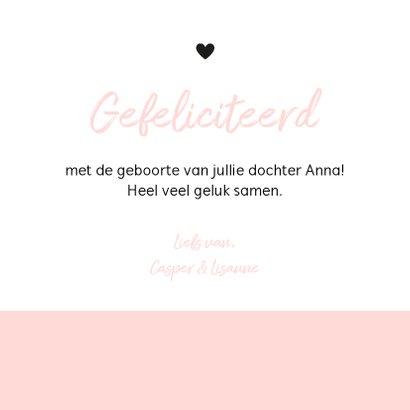 Felicitatie - Typografisch met roze 3