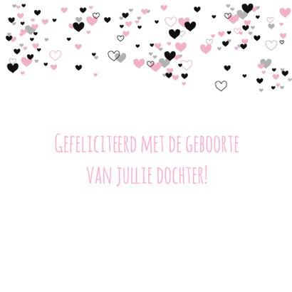 Felicitatie - Veel roze hartjes 3