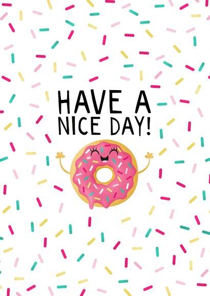 Felicitatie verjaardag donut with sprinkles on top 2