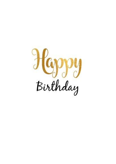 Felicitatie Verjaardagskaart 50 goud 3