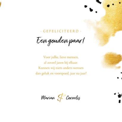 Felicitatie 'vijftig' met polaroid en gouden waterverf 3
