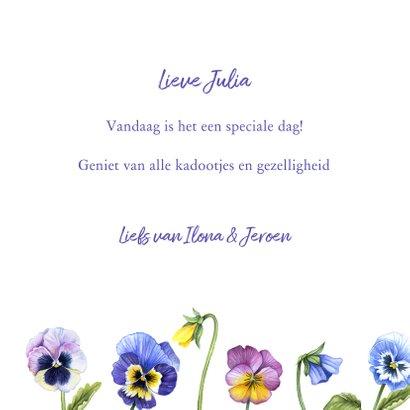 Felicitatie viooltjes 3