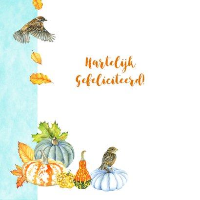 Felicitatie vogeltjes herfst 2