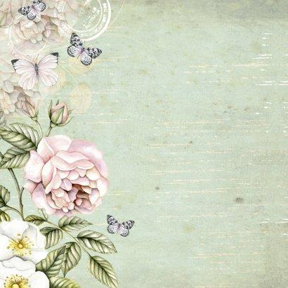felicitatie voor Sarah vintage rozen 2