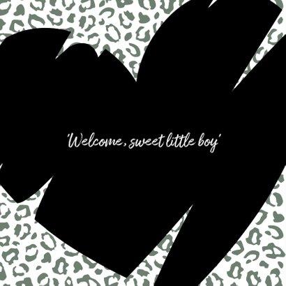 Felicitatie - Vrolijk hart met luipaard print 2
