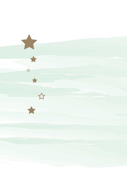 Felicitatie watercolour met sterren 2