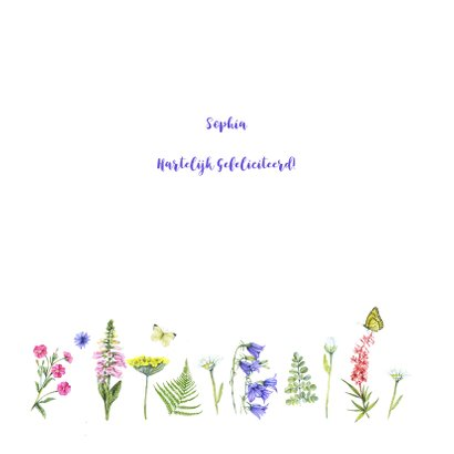 Felicitatie wilde bloemen 2