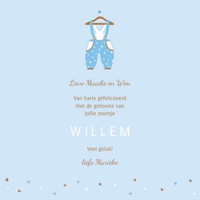 Felicitatie zoon kleertjes blauw 3