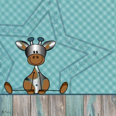 Felicitatie zoon zilver girafje 2