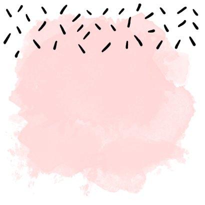 Felicitatie zwangerschap waterverf roze 2