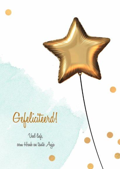 Felicitatiekaart 1 jaar jongen 3
