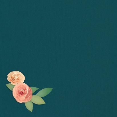 Felicitatiekaart 12,5 jaar getrouwd bloemenhart 2