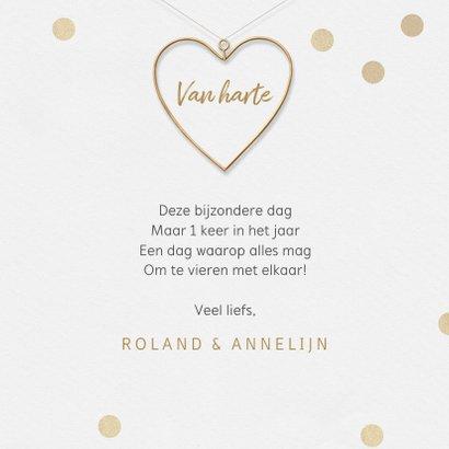 Felicitatiekaart 50 jaar getrouwd proficiat hartje goud 3