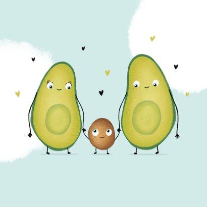 felicitatiekaart avocado zwanger ouders hartjes 2
