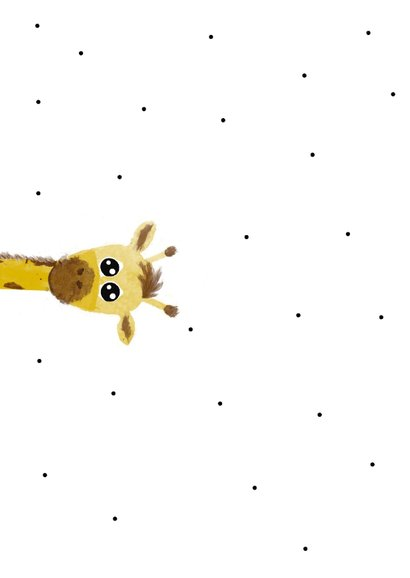 Felicitatiekaart bij een geboorte met giraffe 2