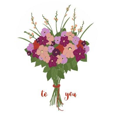 Felicitatiekaart Bloemen uit envelop 2