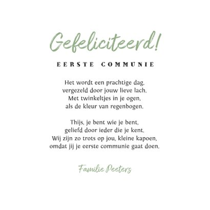 Felicitatiekaart communie krijt confetti hip foto 3