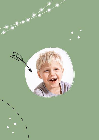 Felicitatiekaart communie lentefeest hip doodle foto 2