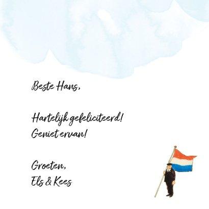 Felicitatiekaart De vlag kan uit, hartelijk gefeliciteerd! 3