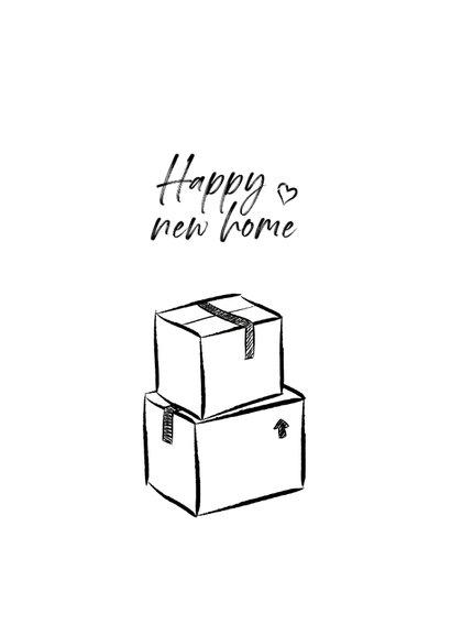 Felicitatiekaart doodle voor nieuwe woning 2