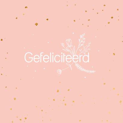 Felicitatiekaart - Feestje - flowers 2