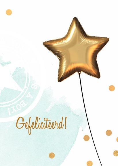 Felicitatiekaart geboorte baby jongen 3