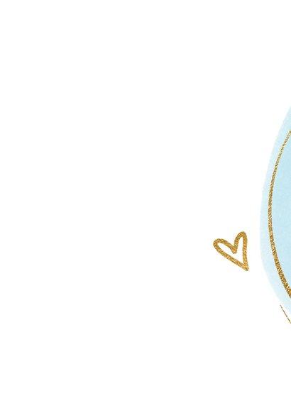 Felicitatiekaart geboorte blauwe dot en cirkel 2