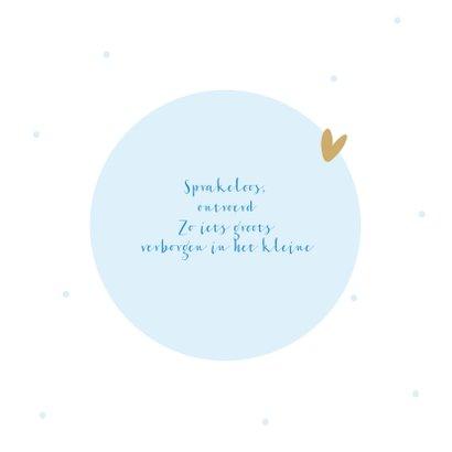 Felicitatiekaart geboorte blauwe vogeltjes om cirkel 2