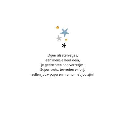 Felicitatiekaart geboorte jongen sterren goud stijlvol 2