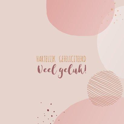 Felicitatiekaart geboorte meisje cirkels en stippen 3