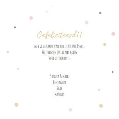 Felicitatiekaart geboorte pandabeer met ballon en confetti 3