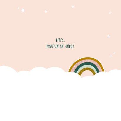 Felicitatiekaart geboorte regenboog meisje 3