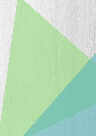 Felicitatiekaart geometrisch groen blauw - DH 2