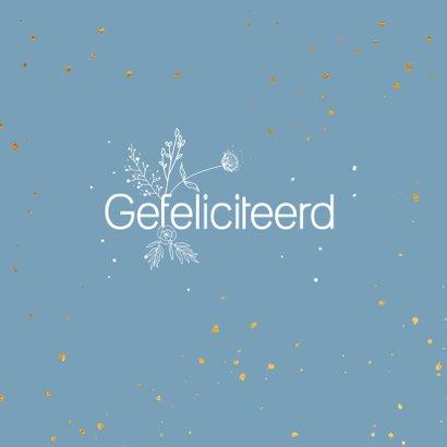 Felicitatiekaart - Getrouwd - flowers 2