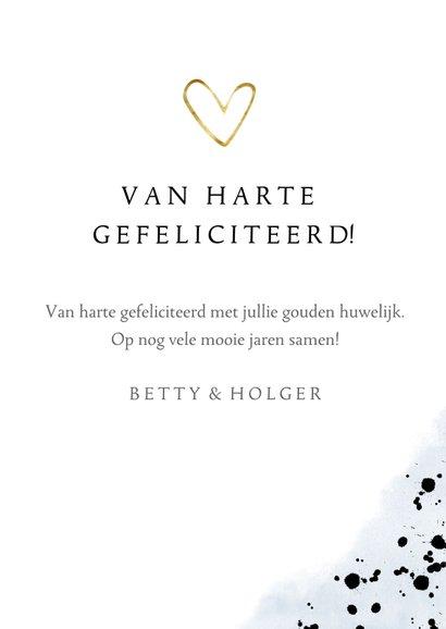 Felicitatiekaart gouden huwelijk 50 jaar cijferballon 3