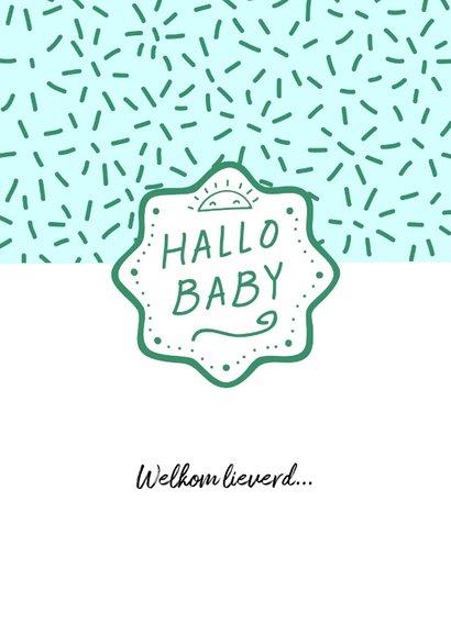 Felicitatiekaart hallo baby jongen 2