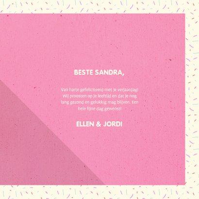 Felicitatiekaart 'HAPPY BIRTHDAY' typografisch met confetti 3