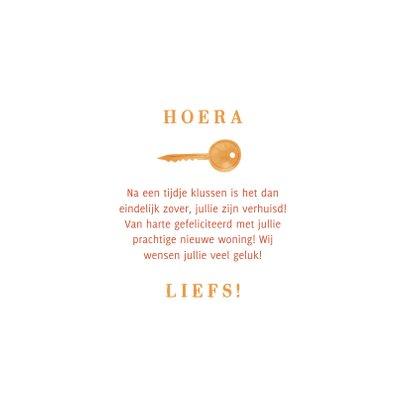 Felicitatiekaart happy new home met sleutelbos 3