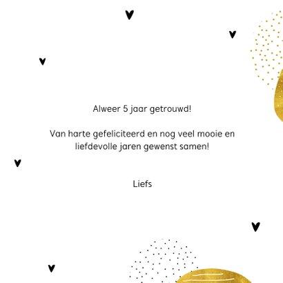 Felicitatiekaart Happy special day in goud kleur 3