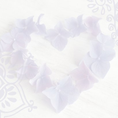 felicitatiekaart hart hortensiabloemen 2